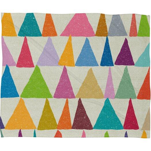 DENY Designs Nick Nelson Analogous Shapes in Bloom Polyesterrr Fleece Throw Blanket