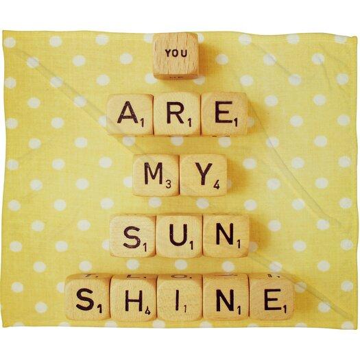 DENY Designs Happee Monkee You Are My Sunshine Polyesterrr Fleece Throw Blanket