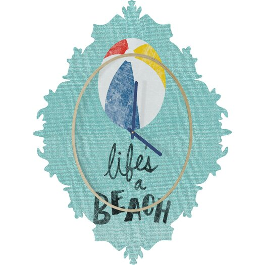 DENY Designs Nick Nelson Lifes A Beach Wall Clock