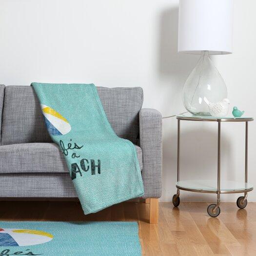 DENY Designs Nick Nelson Lifes A Beach Polyesterrr Fleece Throw Blanket