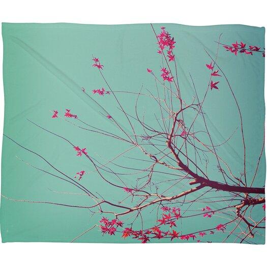 DENY Designs Happee Monkee Red Stars Polyesterrr Fleece Throw Blanket