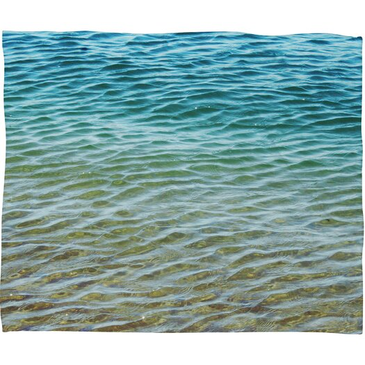 DENY Designs Shannon Clark Ombre Sea Polyesterr Fleece Throw Blanket