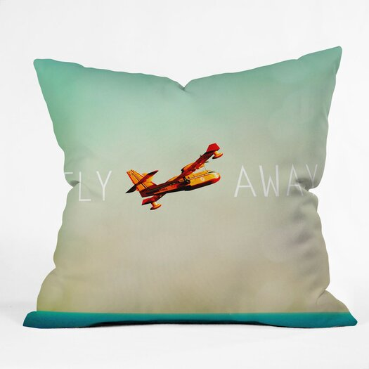 DENY Designs Happee Monkee Fly Away Throw Pillow