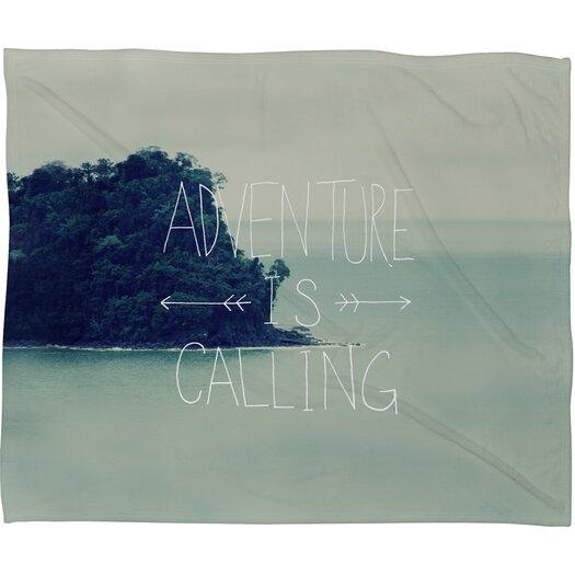 DENY Designs Leah Flores Adventure Island Polyesterrr Fleece Throw Blanket