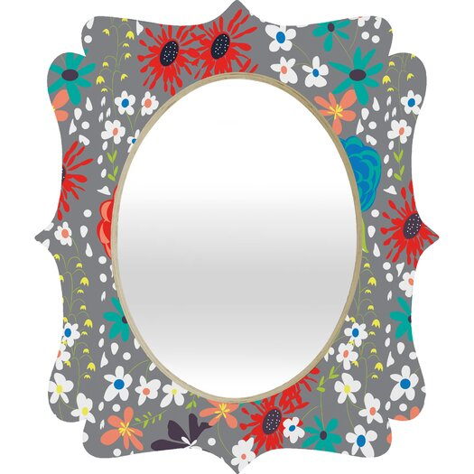 DENY Designs Vy La Bloomimg Love Quatrefoil Mirror