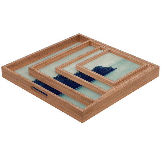 DENY Designs Leah Flores Adventure Island Square Tray