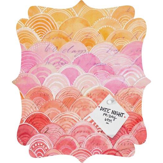 DENY Designs Cori Dantini Warm Spectrum Rainbow Quatrefoil Memo Board