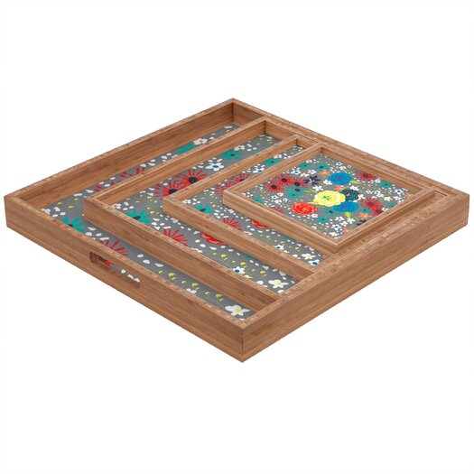 DENY Designs Vy La Bloomimg Love Square Tray