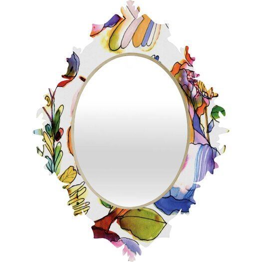 DENY Designs CayenaBlanca Blossom Pastel Baroque Mirror
