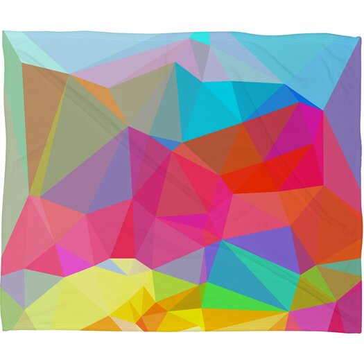 DENY Designs Three of the Possessed Crystal Crush Polyesterr Fleece Throw Blanket