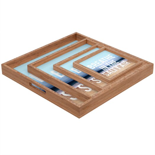DENY Designs Leah Flores Breathe Square Tray