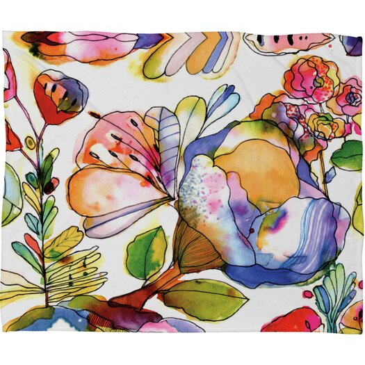 DENY Designs CayenaBlanca Blossom Pastel Polyester Fleece Throw Blanket