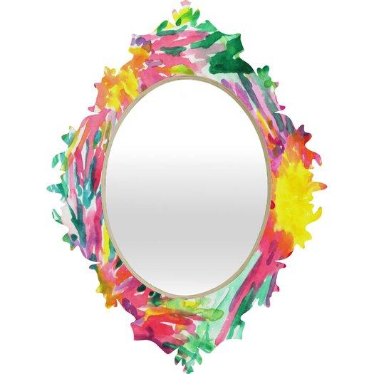 DENY Designs Joy Laforme Floral Confetti Baroque Mirror