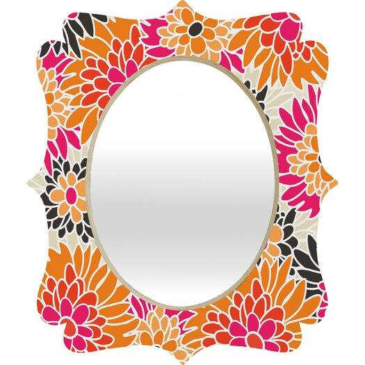 DENY Designs Andrea Victoria Summer Tango Floral Quatrefoil Mirror