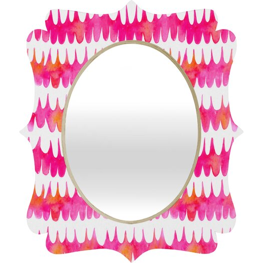 DENY Designs Betsy Olmsted Owl Feather Quatrefoil Mirror