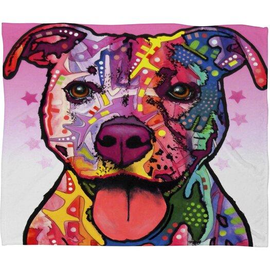DENY Designs Dean Russo Cherish The Pitbull Polyesterrr Fleece Throw Blanket