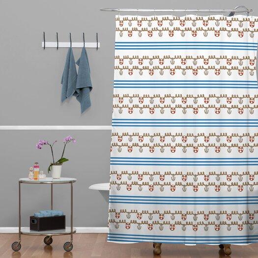 DENY Designs Jennifer Denty Woven Polyester Anchor Small Shower Curtain