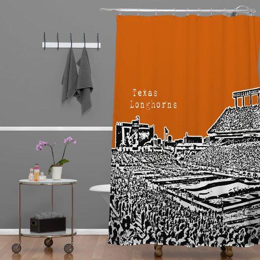 DENY Designs Bird Ave Woven Polyester Texas Longhorns Shower Curtain