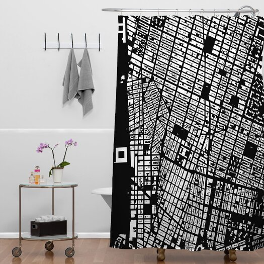 DENY Designs CityFabric Inc Woven Polyester NYC Shower Curtain