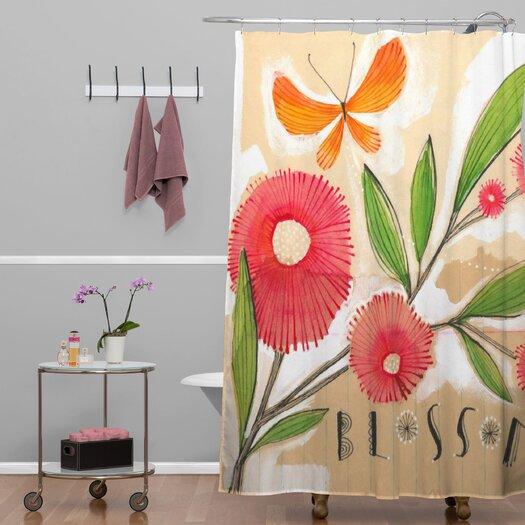 DENY Designs Cori Dantini Blossom 1 Quatrefoil Clock Polyester Shower Curtain