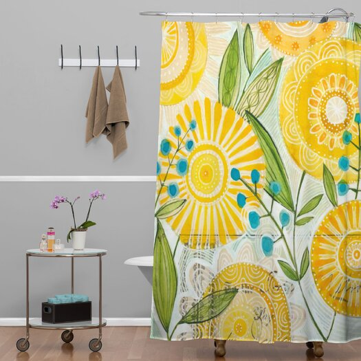 DENY Designs Cori Dantini Sun Burst Flowers Polyester Shower Curtain