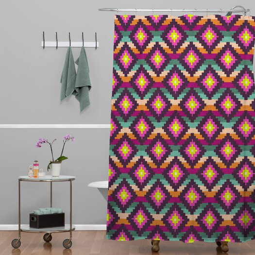 DENY Designs Bianca Woven Polyester Aztec Diamonds Hammock Shower Curtain