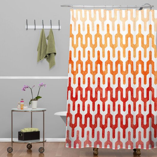 DENY Designs Arcturus Warm 1 Polyester Shower Curtain
