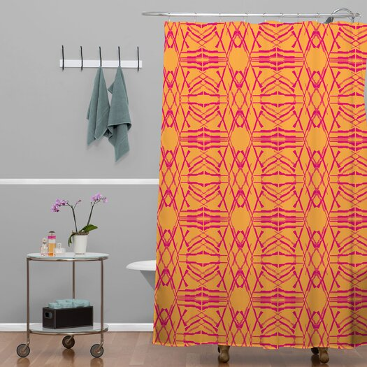 DENY Designs Pattern State Shotgirl Tang Woven Polyester Shower Curtain