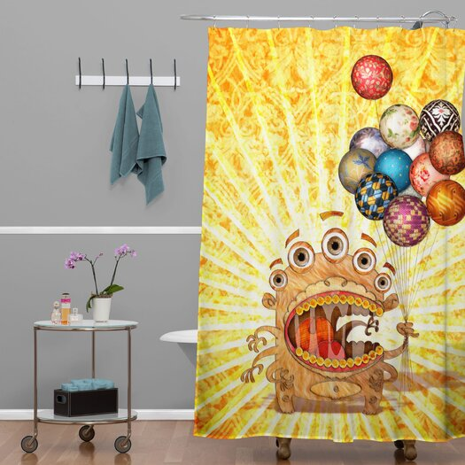 DENY Designs Jose Luis Guerrero Woven Polyester Monster Shower Curtain