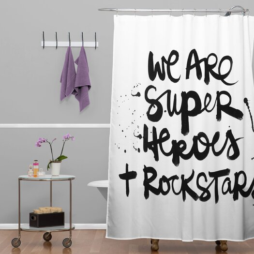DENY Designs Kal Barteski Woven Polyester Superheroes Shower Curtain