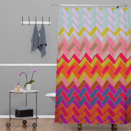 DENY Designs Sharon Turner Geo Chevron Woven Polyester Shower Curtain
