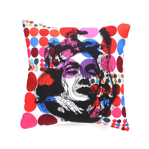 DENY Designs Randi Antonsen Poster Heroins 6 Indoor/Outdoor Polyester Throw Pillow