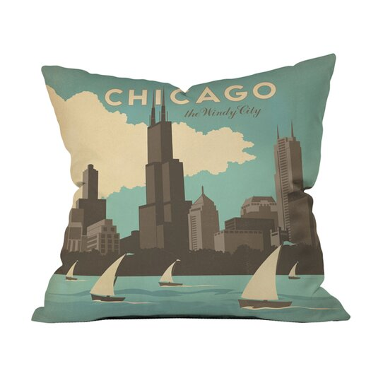 DENY Designs Anderson Design Group Chicago Woven Polyester Throw Pillow
