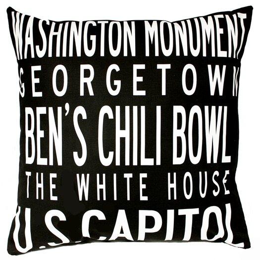 Uptown Artworks Washington DC Pillow