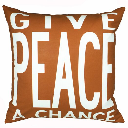 Uptown Artworks Peace Pillow