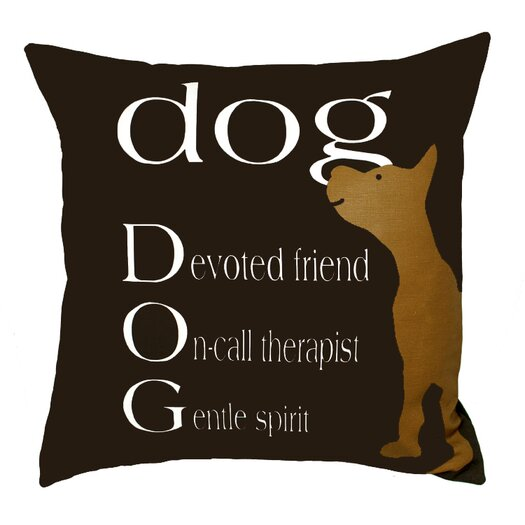 Uptown Artworks Dog Therapist Pillow