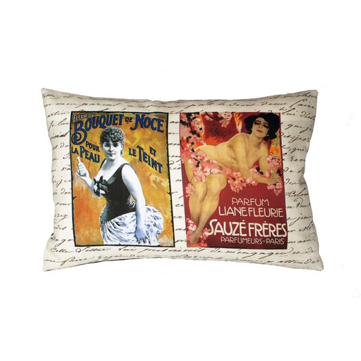 Uptown Artworks French Perfume Ads Pillow