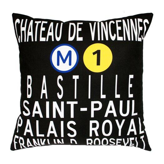 Uptown Artworks Paris Metro Pillow