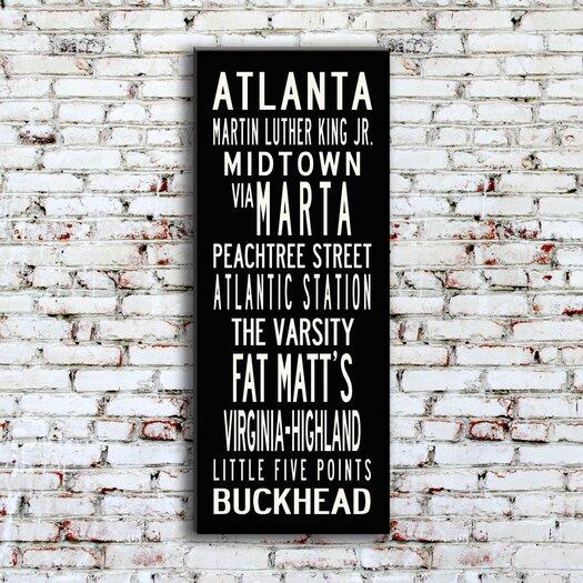 Uptown Artworks Atlanta Textual Art on Canvas