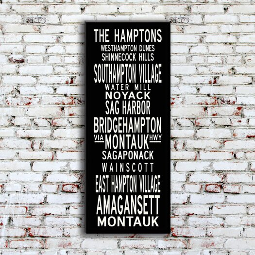 Uptown Artworks Hamptons Textual Art Giclee Printed on Canvas