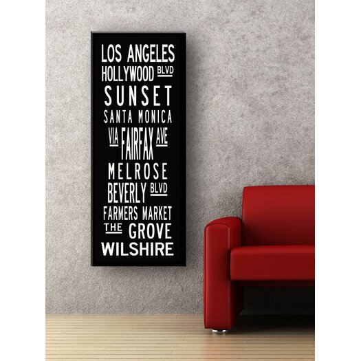 Uptown Artworks Los Angeles Coastline Textual Art on Canvas