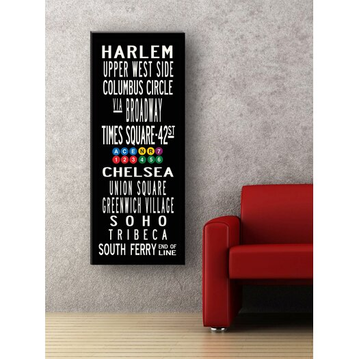 Uptown Artworks New York Neighborhoods Textual Art Giclee Printed on Canvas