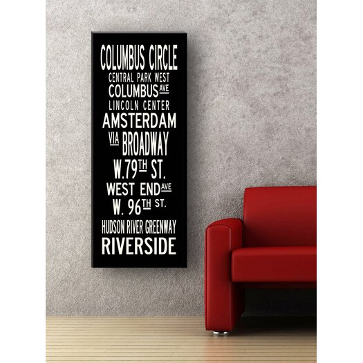 Uptown Artworks Upper West Textual Art Giclee Printed on Canvas