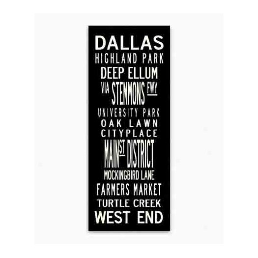 Uptown Artworks Dallas Textual Art on Canvas