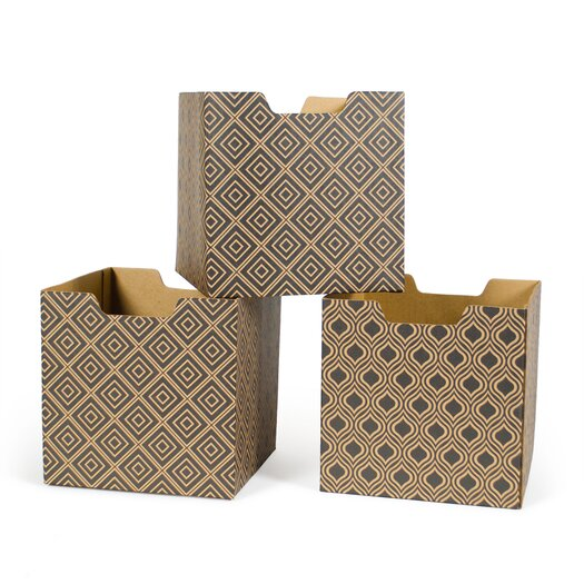Diamond Pattern Decorative Storage Box