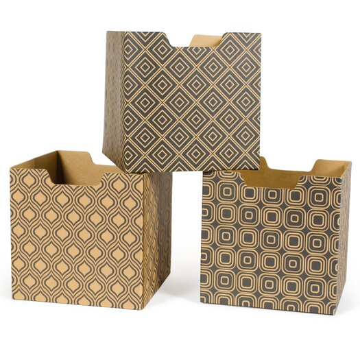 Modern Print Combo Pack Decorative Storage Box