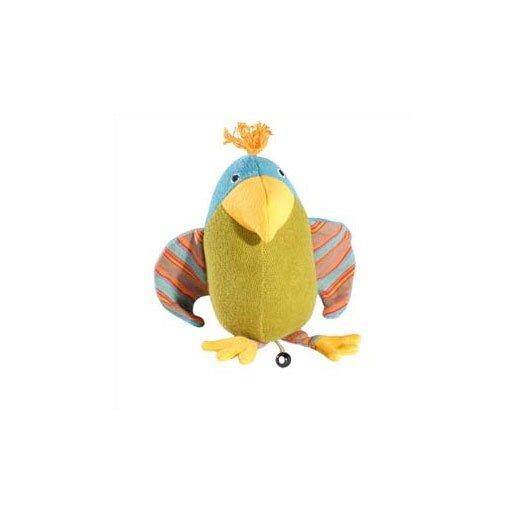 Challenge & Fun Lana Parrot Organic Stuffed Animal with Music Box