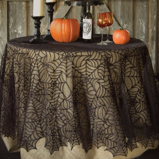 Heritage Lace Spider Web Round Tablecloth