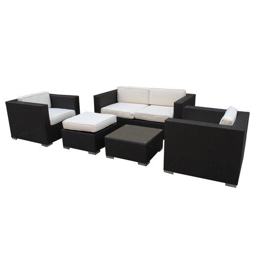 Modway Malibu 5 Piece Deep Seating Groups with Cushions