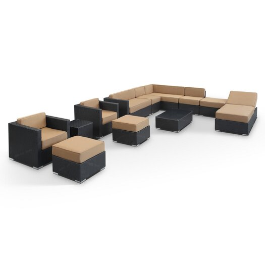 Modway Fusion 12 Piece Sectional Deep Seating Group with Cushions